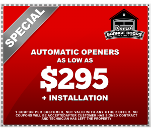 Automatic Openers as low as $295 plus installation