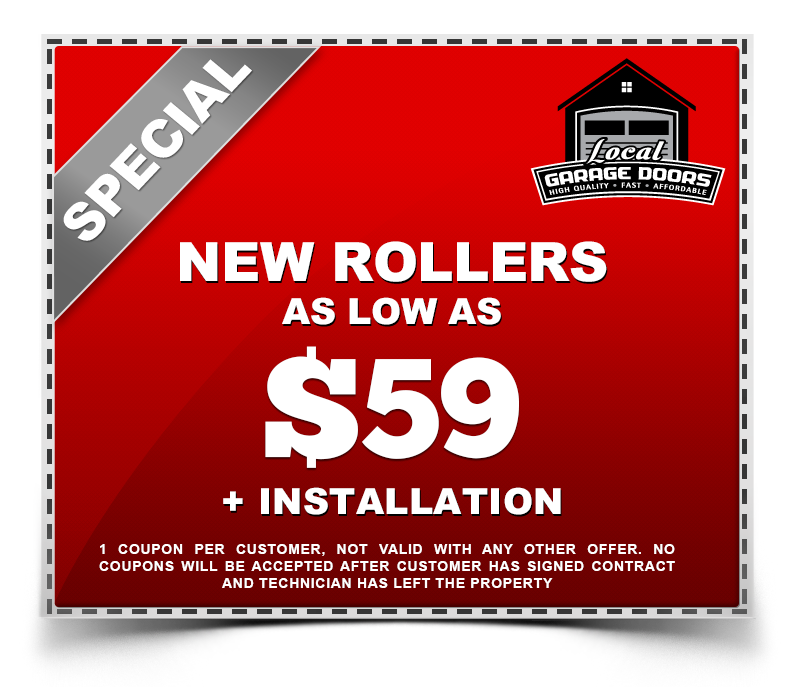 New Rollers as low as $59 plus installation