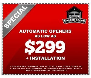 Automatic Openers for $299 plus installation